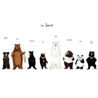 The Bear Family Print Ayi Sanati Sanat Hayvan Ilustrasyonlari