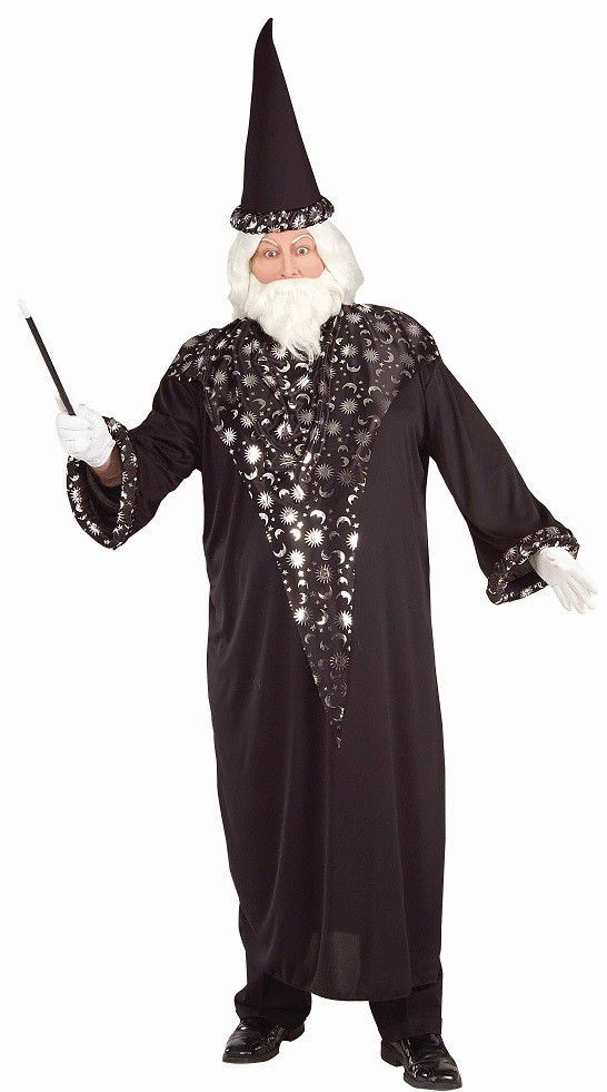 Wizard Merlin Medieval Sorcerer Fancy Dress Up Plus Size Adult