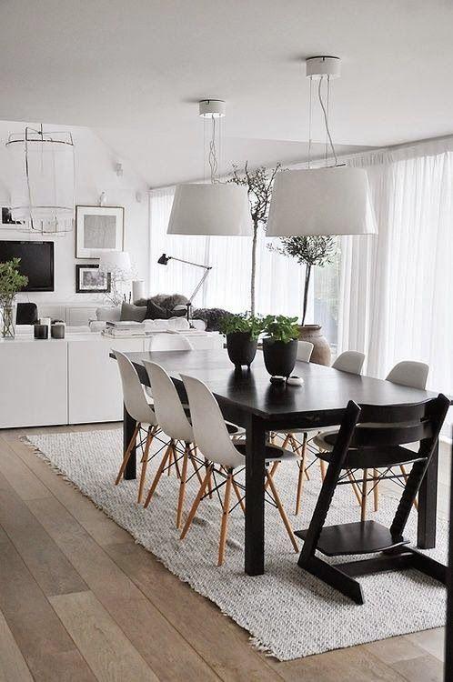 15 comedores decorados en blanco y negro | Pinterest | Salons, Room ...