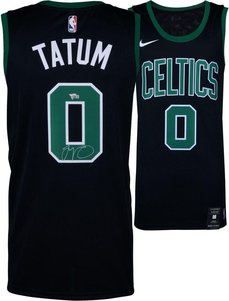 62b43e796 Jayson Tatum Boston Celtics Autographed Nike Black Swingman Jersey ...