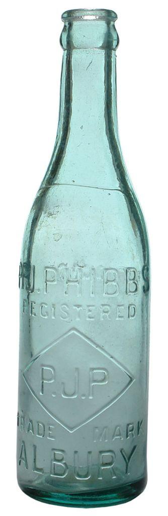 P. J. Phibbs, Albury. PJP in a diamond trade mark. Lemonade. 10 oz Crown Seal soda. c1920s. ABCR Auction 18 Lot 174. November 2014.