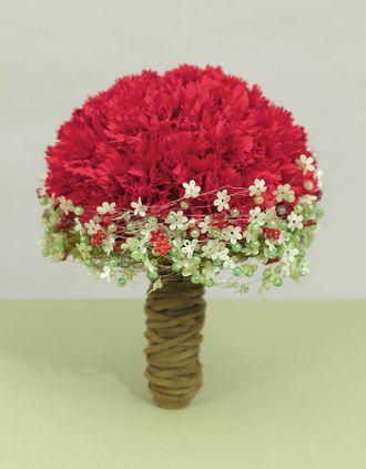 Roter Brautstrauss Aus Nelken Red Carnation Bridal Bouquet