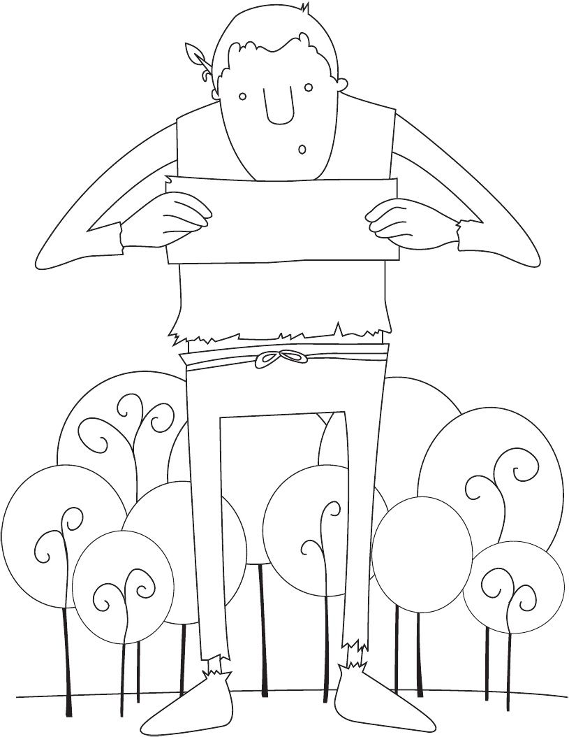 How Do You Feed a Hungry Giant? Coloring Pages! Kids