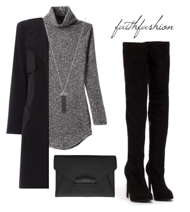 """Untitled #212"" by faithfashionash on Polyvore featuring Linea, Nly Shoes, Karen Kane and Givenchy"