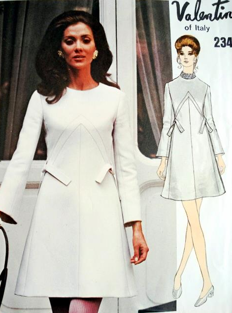 1960s VALENTINO LOVELY DRESS PATTERN VOGUE COUTURIER 2347 ...