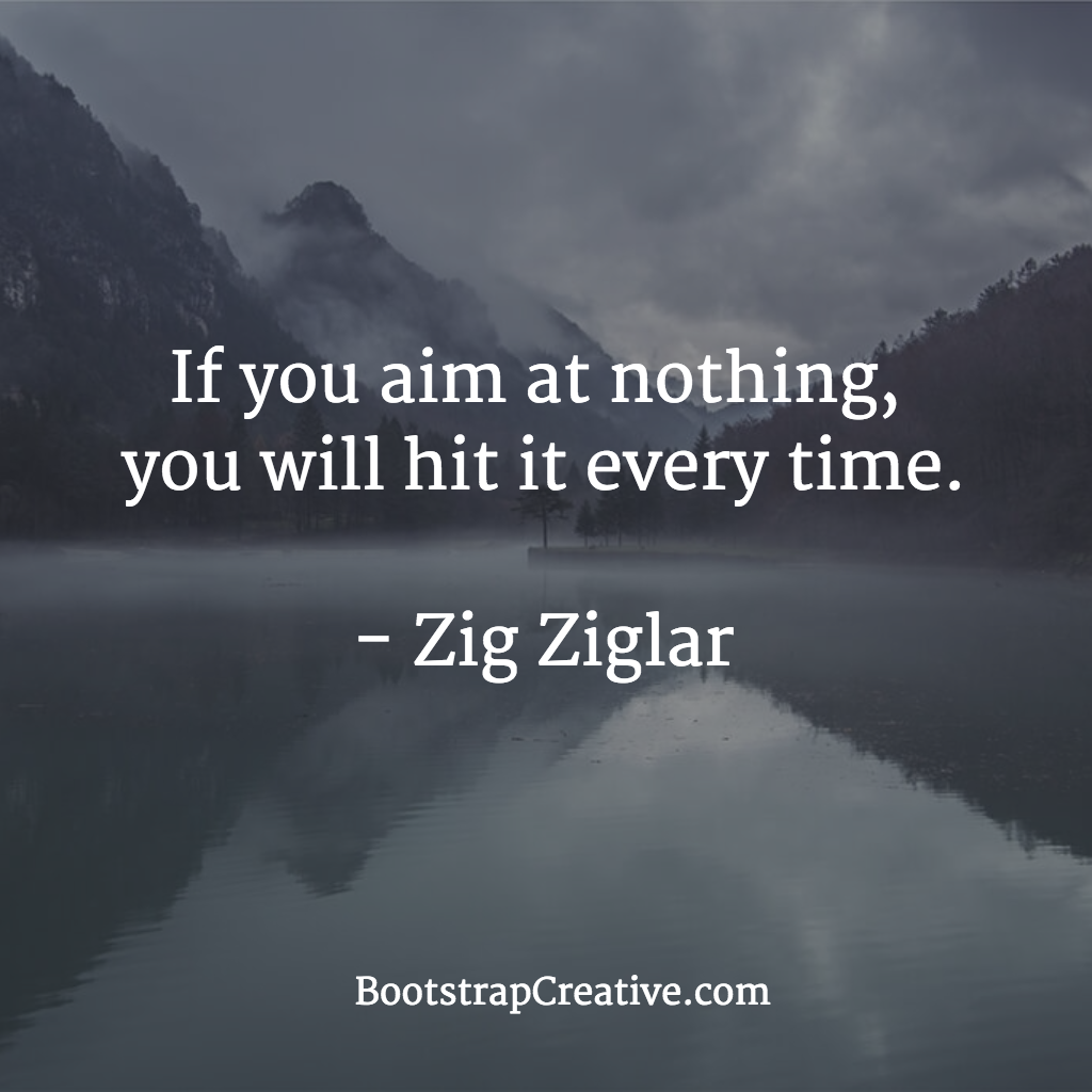 Quotes Zig Ziglar If You Aim At Nothing You Will Hit It Every Timezig Ziglar