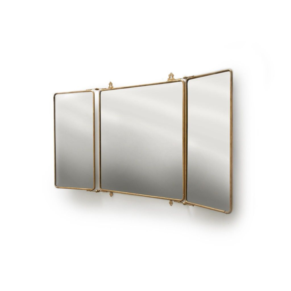 Daphne Metal Rectangular Trifold Mirror