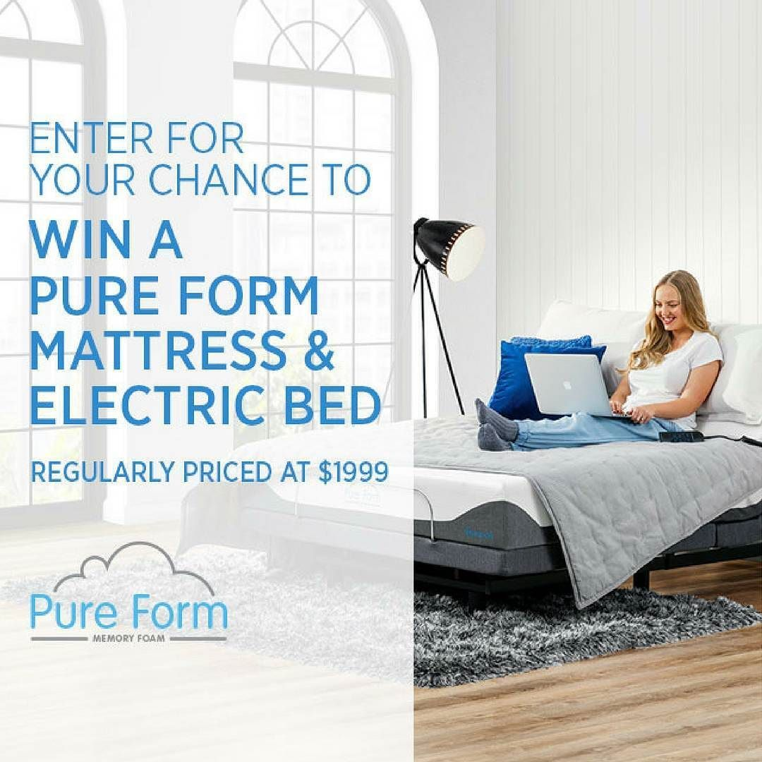 to celebrate the launch of our new pure form mattresses and electric
