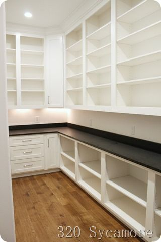 storage in pantry #largepantryideas