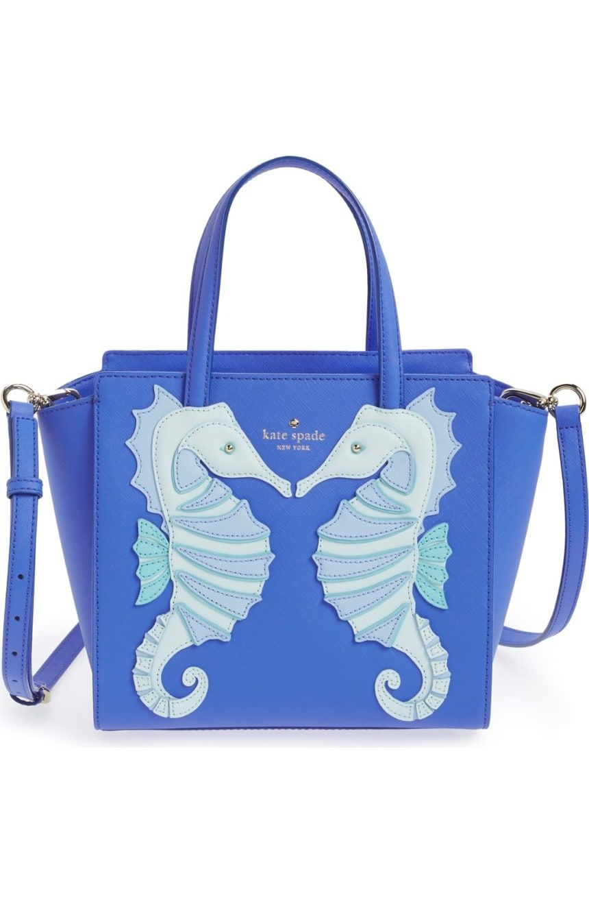 2933c36d10a31 kate spade new york  breath of fresh air - small hayden  seahorse appliqué  handbag