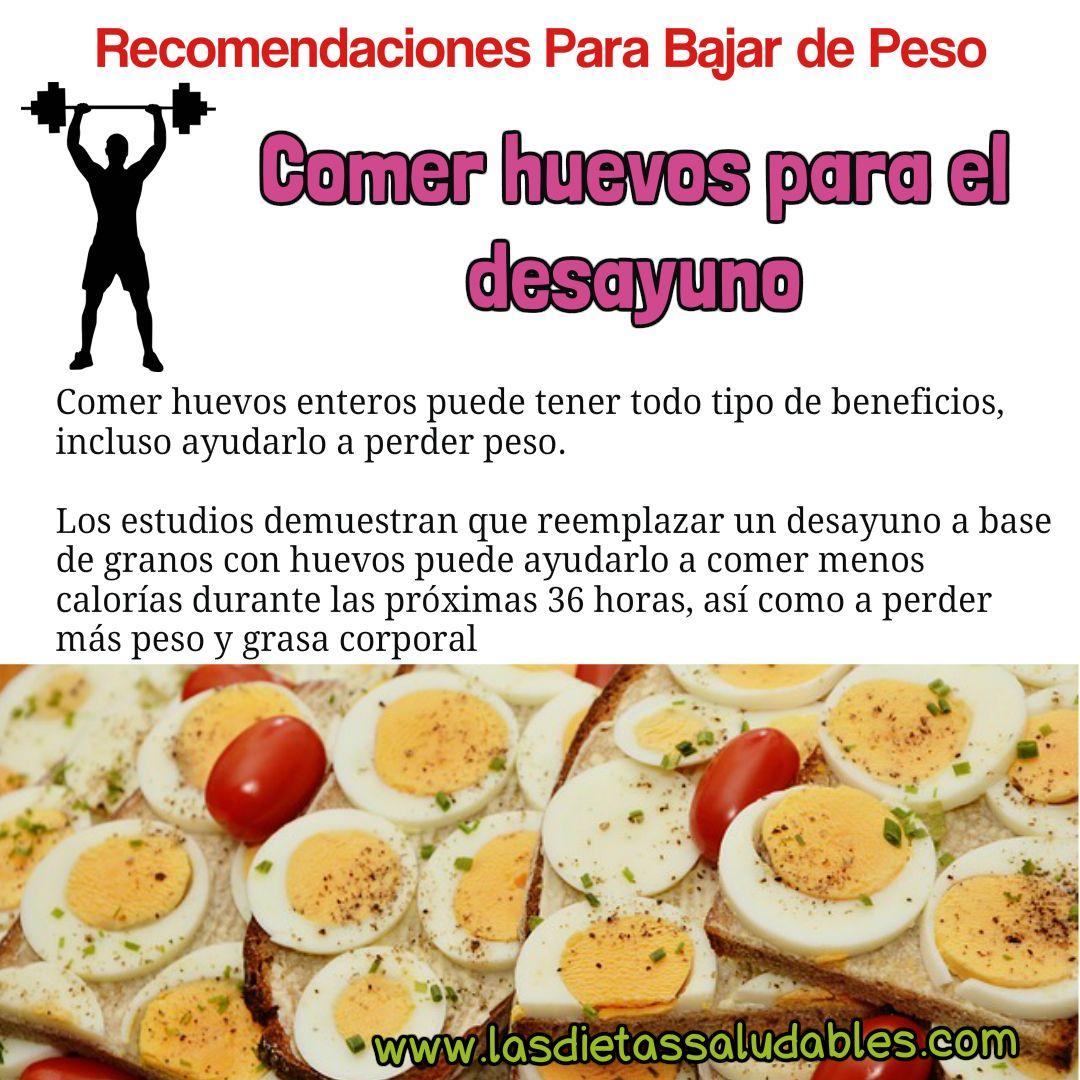 como comer huevos para bajar de peso
