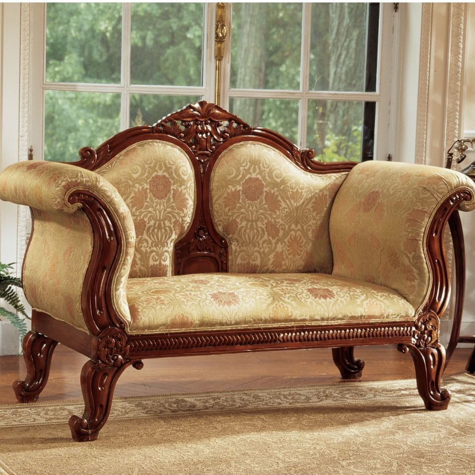Design Toscano Abbotsford House Victorian Sofa In Tan. I