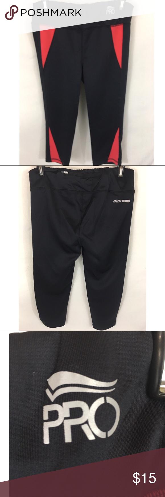 Crivit Pro Athletic Pants Women s Small Capri crivit pro athletic leggings  womens small black red 8b95a4ee210