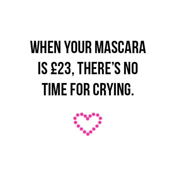 Mascara Quotes Adorable No Time For Crying Crying Mascara Quote Makeup Girls Beauty
