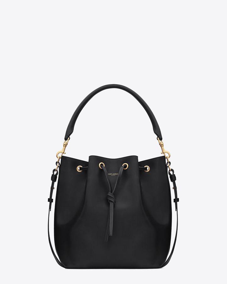 38a6b7f86d Saint Laurent Medium EMMANUELLE BUCKET BAG IN Black LEATHER   ysl.com $2,150