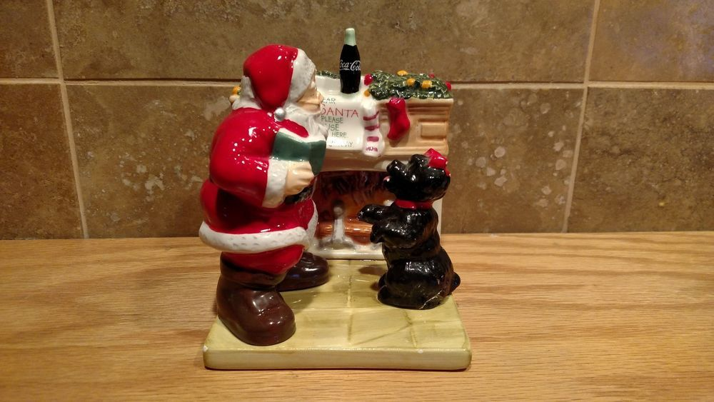 Christmas Coca Cola Santa Salt and Pepper Shakers