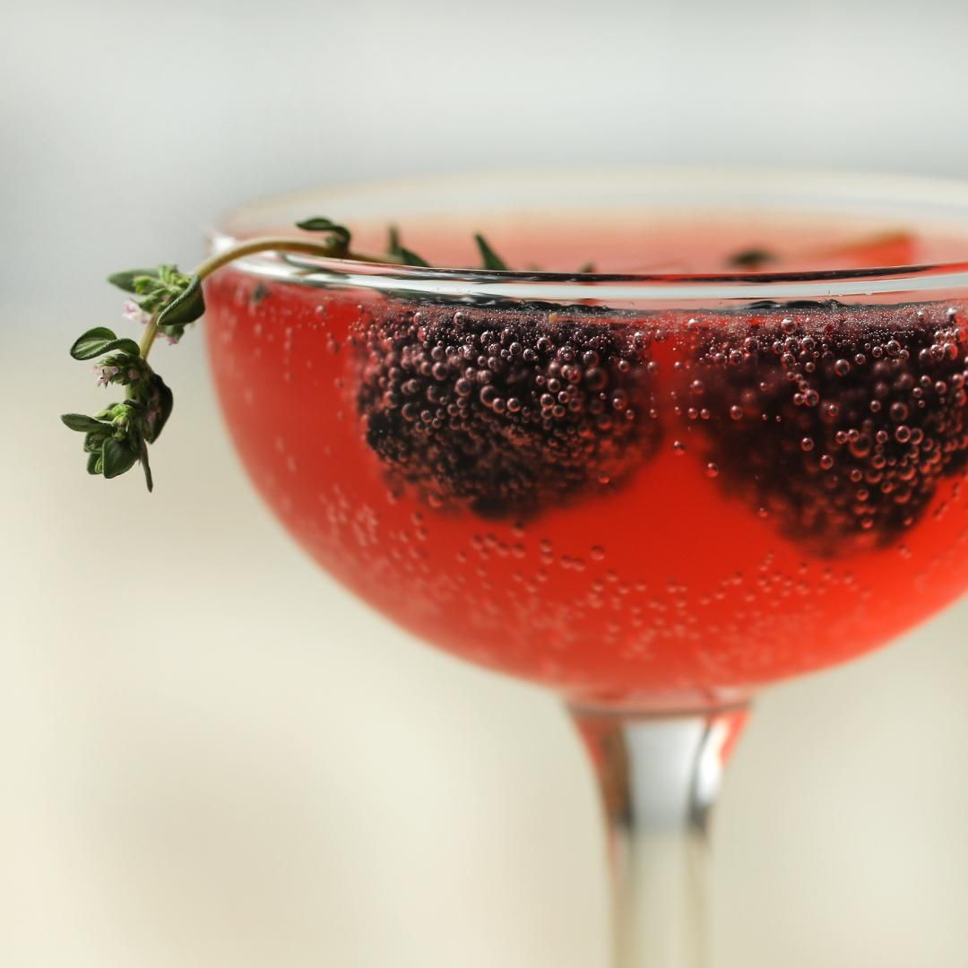 Photo of Blackberry & Thyme French 75