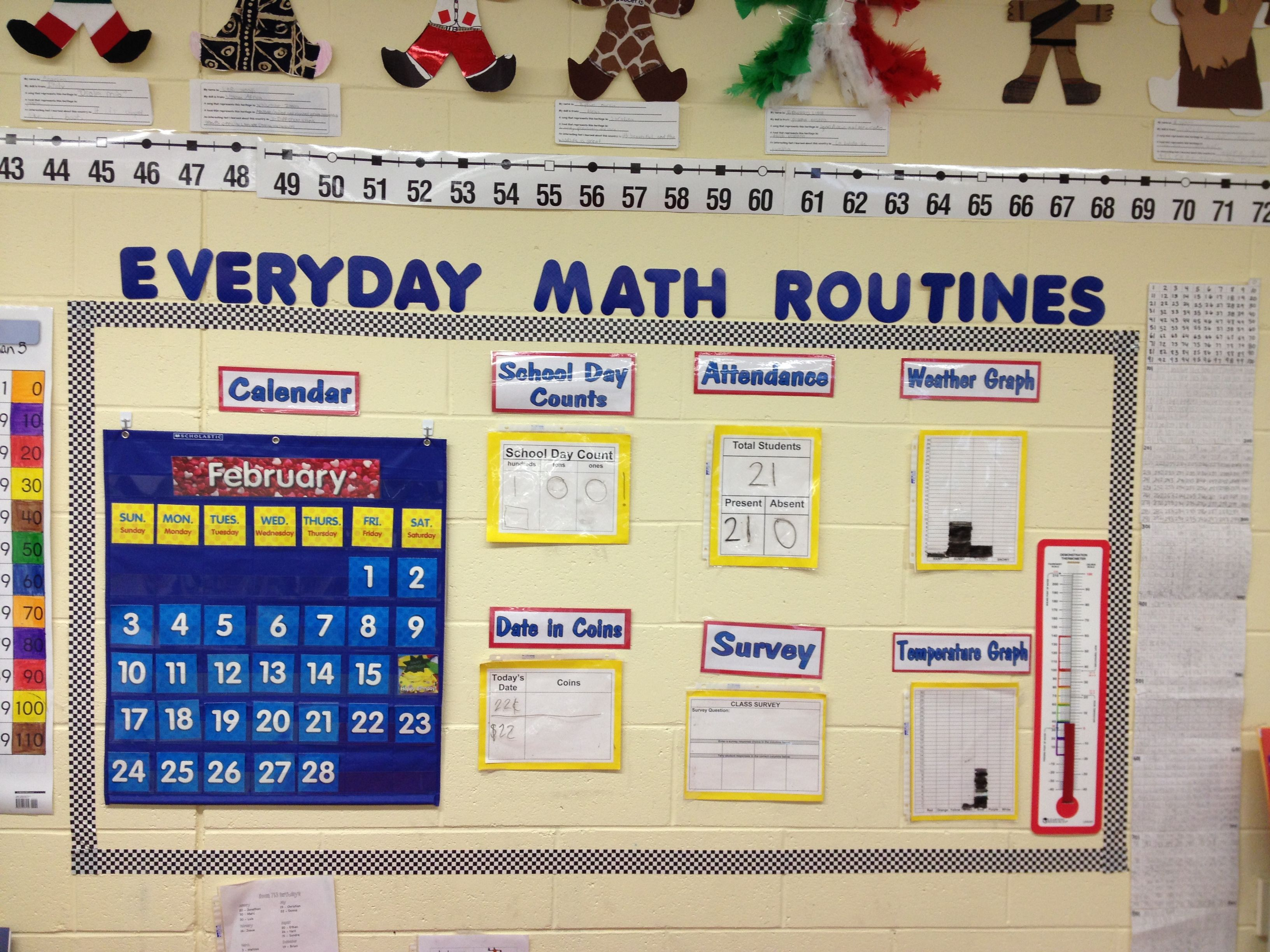 Calendar Ideas For Elementary : No bulletin board problem daily routine for