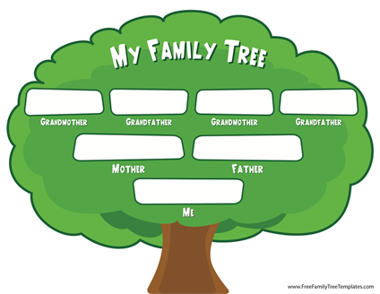 Download This Family Tree For Kids Template And Get A Head Start On That Upcoming School Proj Family Tree For Kids Family Tree Chart Blank Family Tree Template