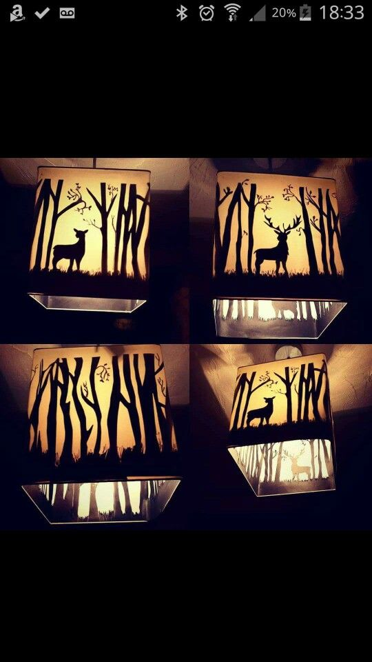 Harry Potter Deer And Stag Patronus Lampshade Homemade Silhouette