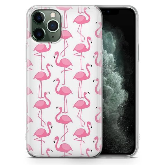 Flamingo Phone Case Pink Birds Cover for Samsung A20/A30 S8 S8+ S9, S9+ Perfect Gift for iPhone XS 11 pro Max, 7, 8 & HUAWEI P30 models R6