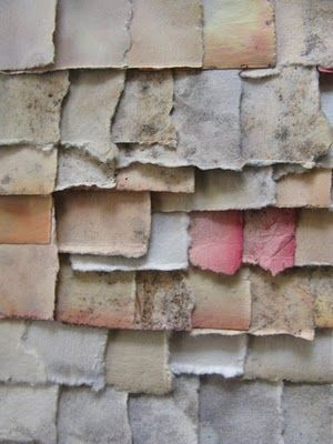 Detail - Gina's Eye - http://ginaseye.blogspot.com/ -- collage of weathered papers