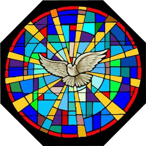 White Dove Of Peace With Beams Of Light Etched Vinyl Stained - Stained glass window stickers amazon