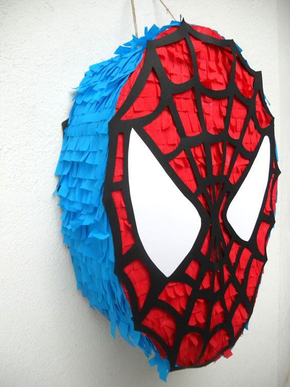 Pi ata de decoracion para fiesta de spiderman fiestas for Decoracion de pinatas infantiles