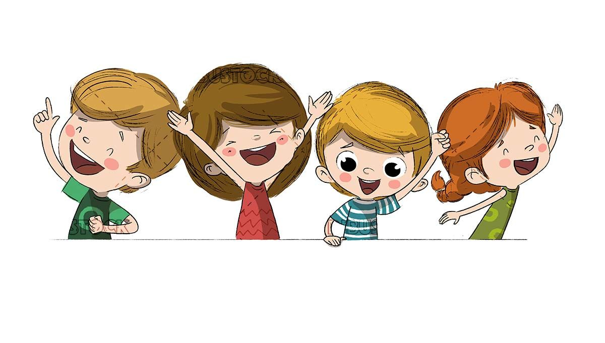 Group of happy children or friends | Kids clipart, Happy kids ...