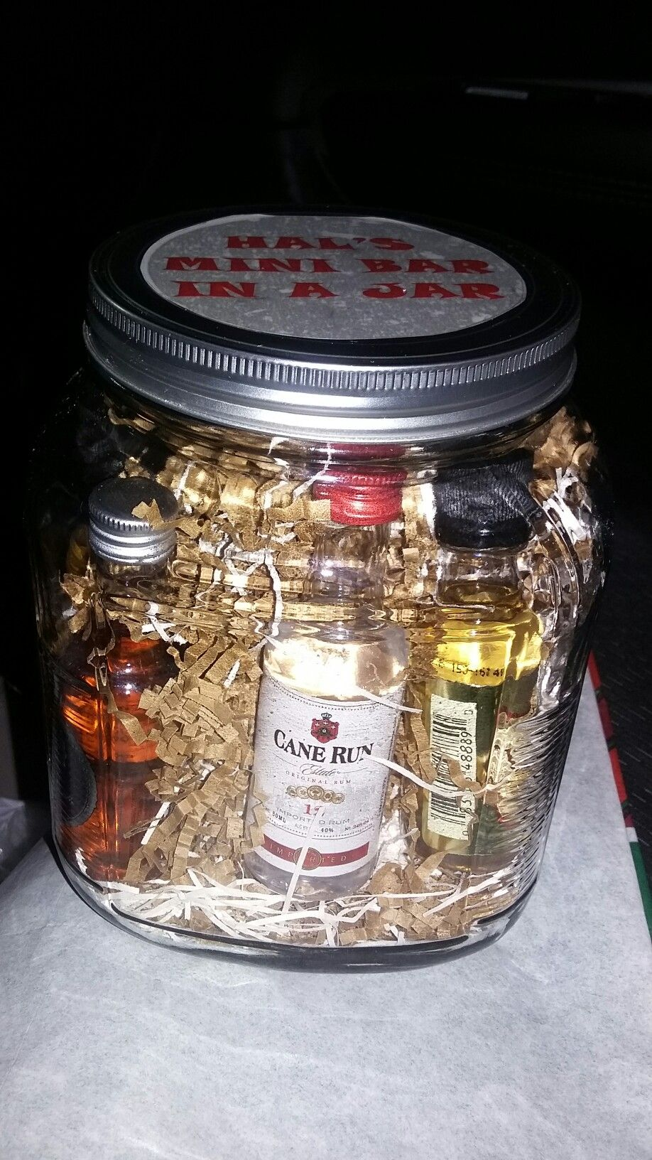Mini Bar In A Jar I Tried Jar Gifts Jar Mason Jar Gifts