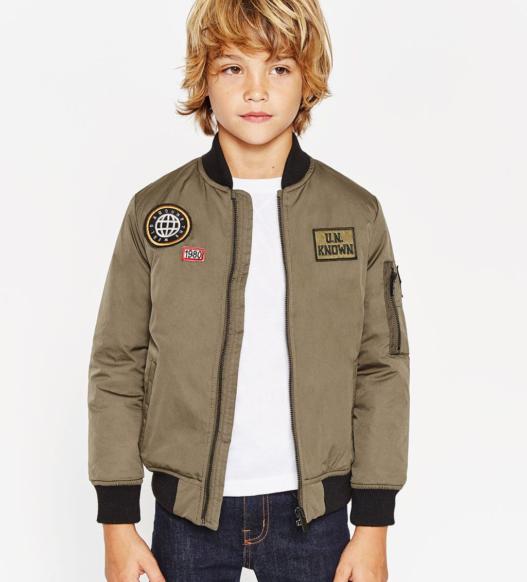 Favorite! Patch bomber jacketNEW INBOY 414 yearsKIDS
