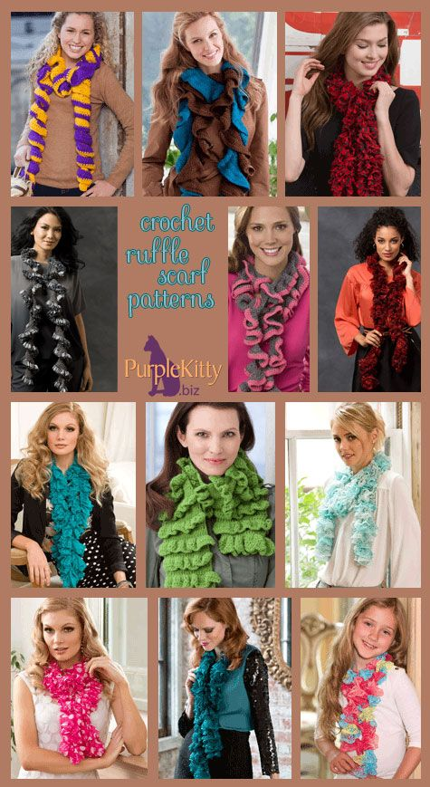 Pattern Roundup A Dozen Easy Crochet Ruffle Scarf Patterns From