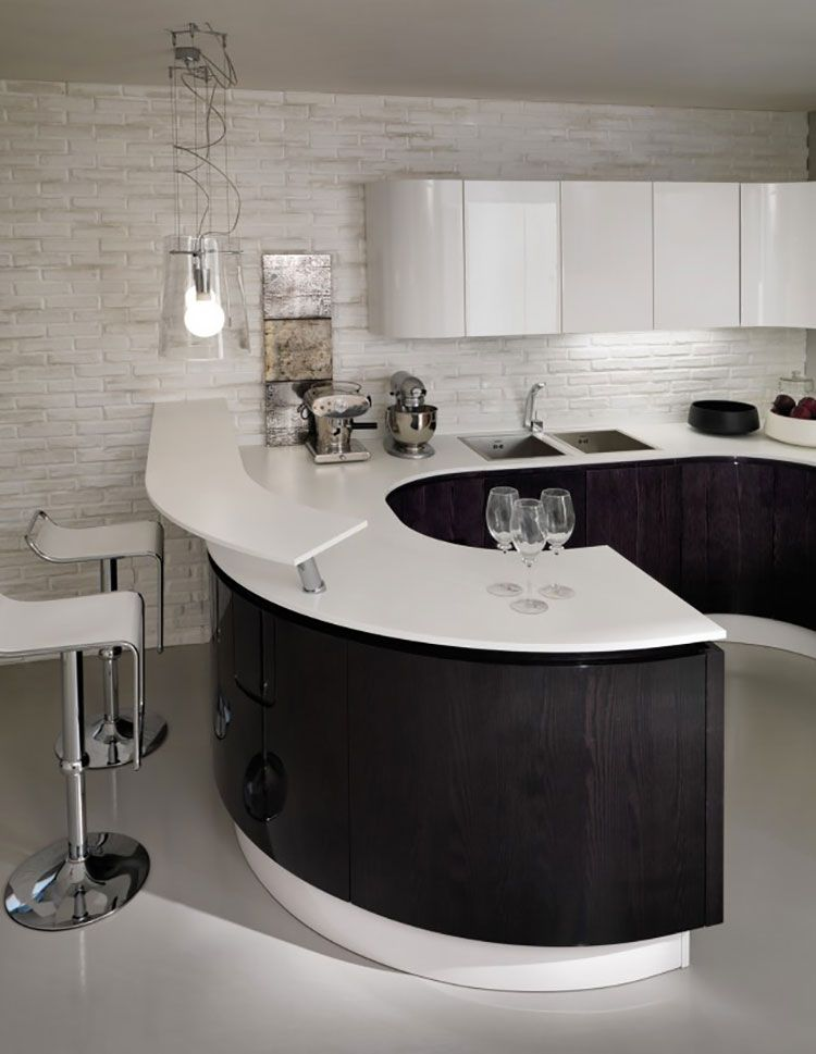 Cucina bianca e nera dal design moderno 17 | Cucine | Pinterest ...