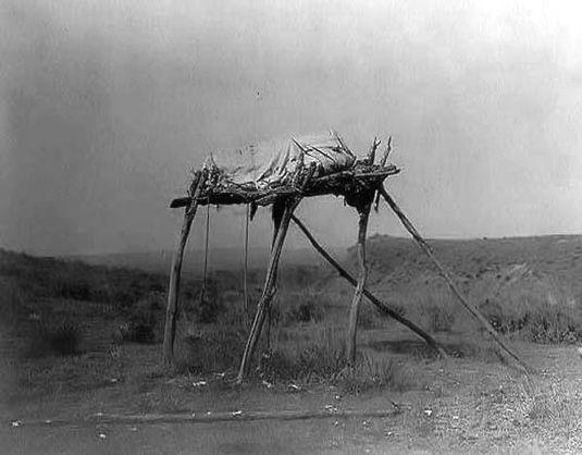 Plains indian burial