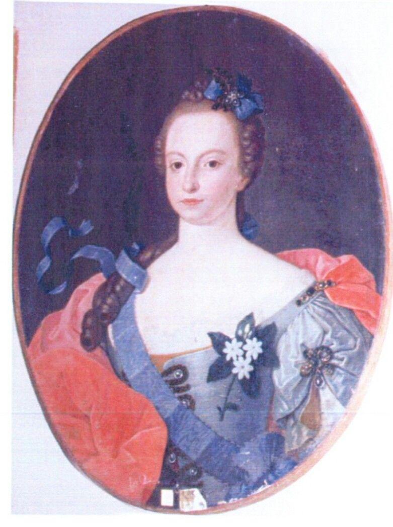 Retrato de D. Maria Ana de Bragança, excitada por Francisco Vieira Lusitano em 1753