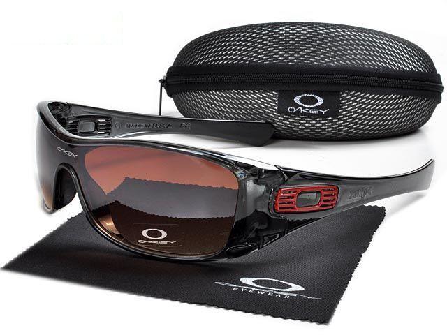 Knockoff Oakley Antix Sunglasses crystal black frames brown lens ... 0e2204e97b