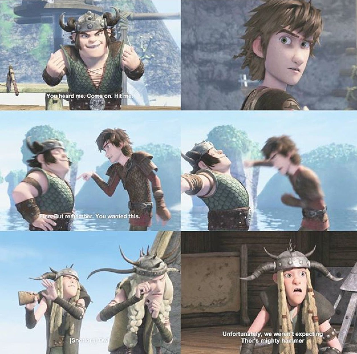 Who knew that Hiccup could throw a punch like that? I'm