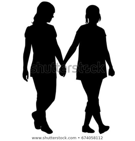 Silhouettes Of Lesbian Couple Holding Hands Lesbian Couple Couple Holding Hands Silhouette
