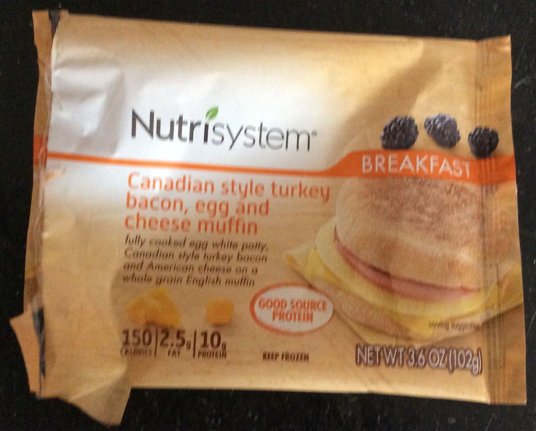 B g canadian style turkey bacon egg cheese muffin