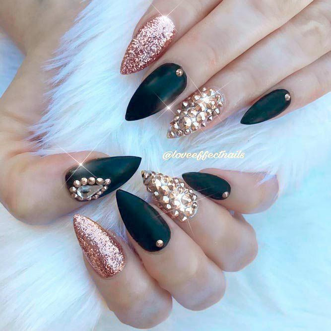 Fantabulous Pointy Nails Designs You Would Love to Have: Classy Matte Pointed  Nails #nails; #nailart; #naildesign; #pointednails - Fantabulous Pointy Nails Designs You Would Love To Have Pointed