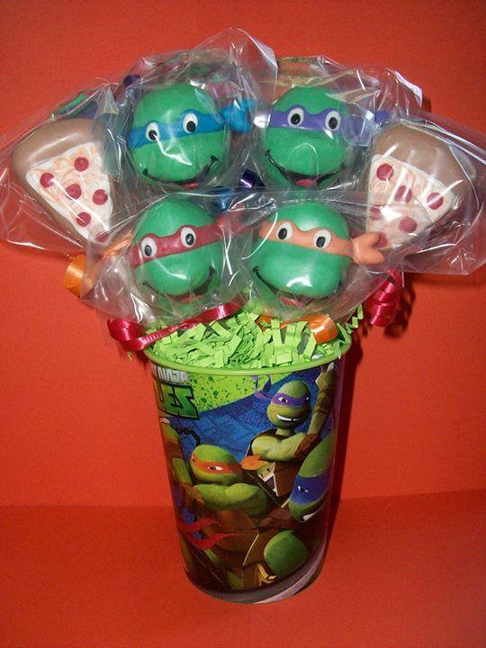 Teenage Mutant Ninja Turtles Cake Pops Archeology Geology Birthday Ninja Turtle Cake Pops Turtle Birthday Y Ninja Turtle Birthday