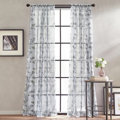 Peri Home Kelly Floral Sheer 84 Rod Pocket Window Curtain Panel