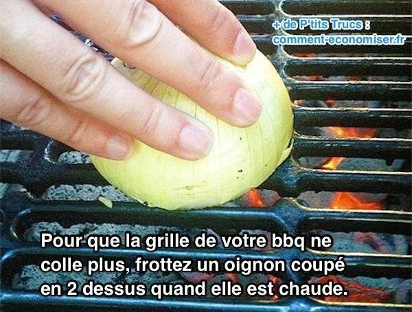 enfin une astuce pour que la grille du barbecue ne colle plus