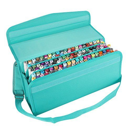 c7a2eb573696 Pencil Case Holder Slot - Holds 202 Colored Pencils or 136 Gel Pens ...