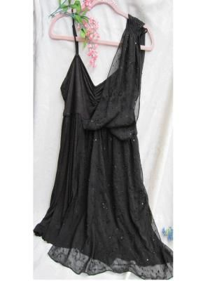 FALL PREVIEW*FREE PEOPLE* BLACK SEQUINED TOP/DRESS