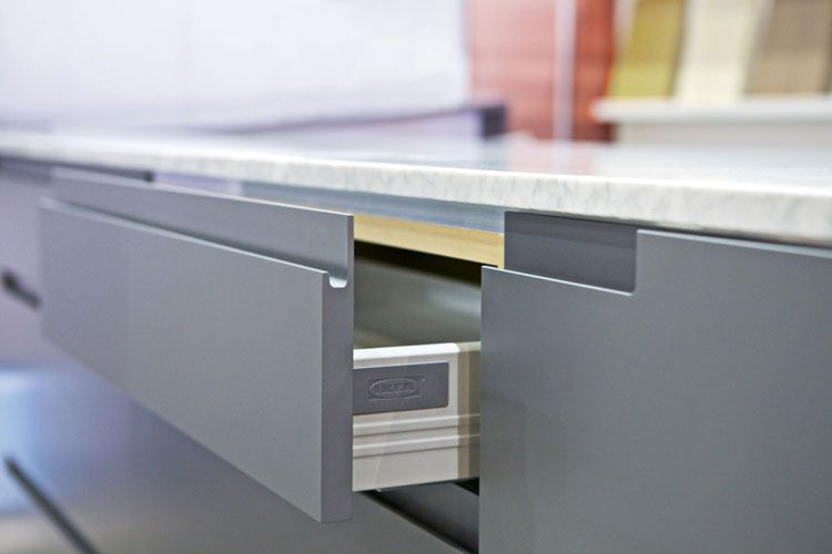 Dunsmuir Cabinets Custom Fronts For Ikea Cabinets With Integrated Pulls Bathrooms And