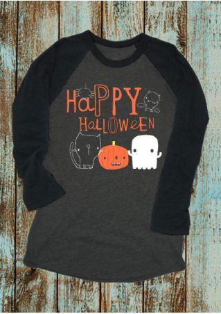 8ea3503d2 Happy Halloween Pumpkin Face Printed Baseball T-Shirt | FairySeason ...