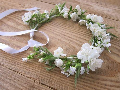 couronnes de fleurs fraiches id es pour les mariages flower crown floral crown et. Black Bedroom Furniture Sets. Home Design Ideas