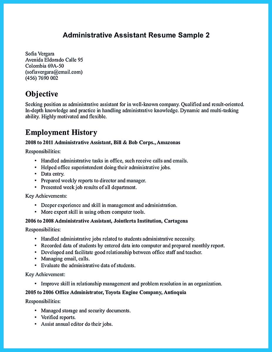 Pin on Resume Samples | Pinterest | Administrative position