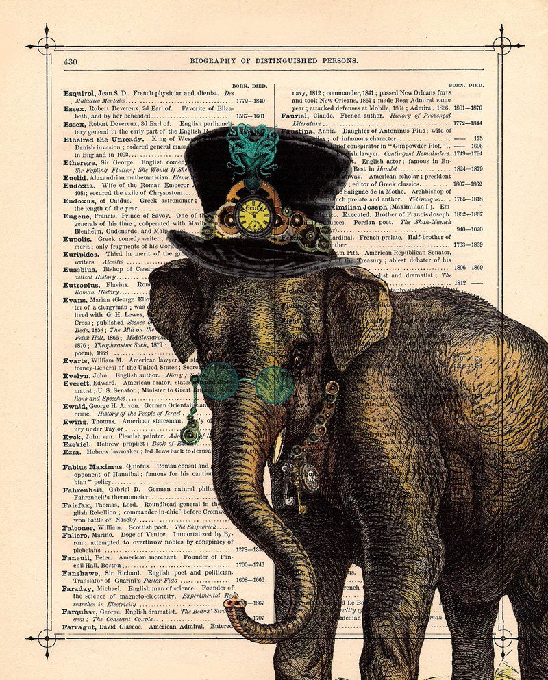 Steampunk Elephant Illustration